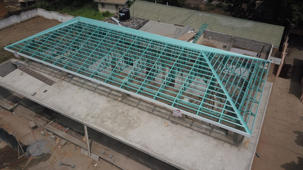 Light steel frames, roof trusses