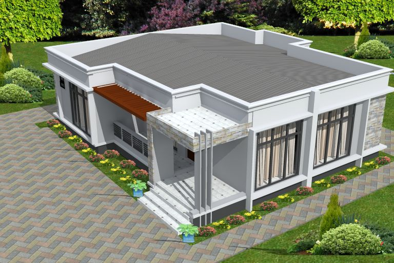 secret roofing design, flat roof